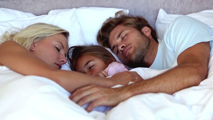 Parents sleeping with their daughter