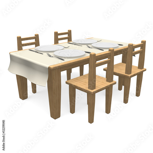 CutlaryOnWoodenDiningTable
