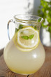 Fresh cold ginger lemonade with ice