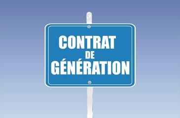 panneau contrat de génération