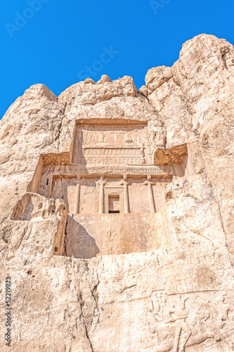 Achaemenid king's tomb in Naqsh-e Rustam, Shiraz, Iran.