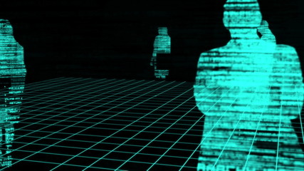 Computing animation with blue silhouettes