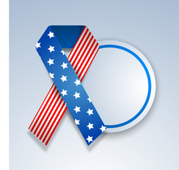 YogendraAmerican Independence Day concept with ribbon and blank