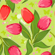 Spring Texture of  tulips seamless