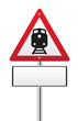 Railroad level crossing traffic sign