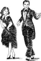 retro dancing couple