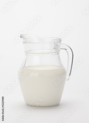 glass jug of fresh milk...