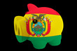 piggy rich bank in colors national flag of bolivia   for saving