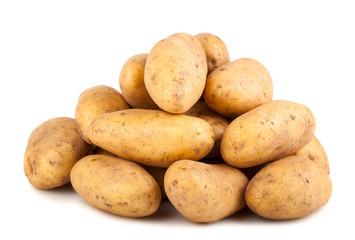 Heap of fresh potatoes