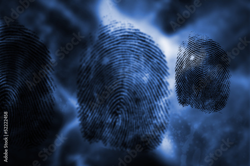 Three black fingerprints