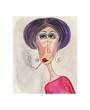 Portrait of woman. Watercolours on paper
