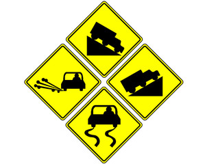 traffic sign on white