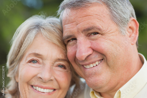 Close up portrait of older couple
