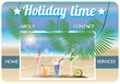 Website template travel agency, holiday