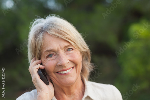 Portrait of woman on the phone