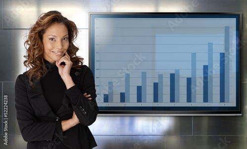 Portrait of successful businesswoman smiling