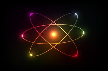 Vector molecule of atom