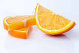 orange slices on a light background