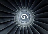 Photo of a jet engine with rotation signal