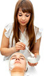 Healthcare treatment at the beauty salon