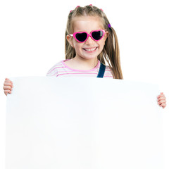 fashion girl  behind a white board
