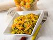 pasta with zucchinis flower and saffron