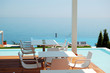 Sea view restaurant at the modern luxury hotel, Pieria, Greece