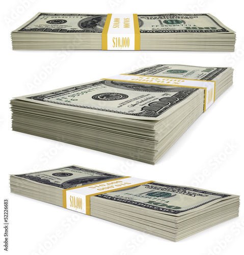 A pack of dollar bills