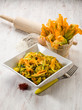 pasta with zucchinis flower and saffron