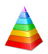 Color layered pyramid. Vector illustration