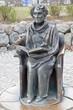 Leinwanddruck Bild - Monument to the writer