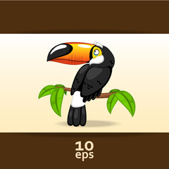 Toucan. Vector illustration