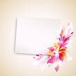 "vector template ""card with abstract flower"""
