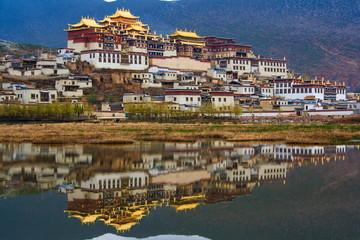 Tibetan monastery. Shangri-la. China.