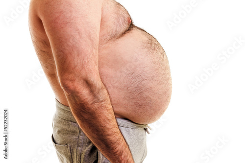 Big belly of a fat man