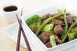 wok bœuf haricots plats verts et brocolis zoom 1