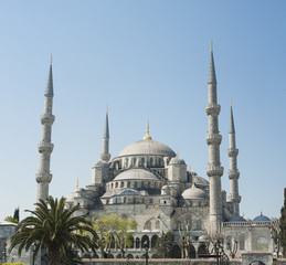 View of the Blue Mosque in Istanbul