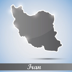 shiny icon in form of Iran