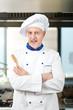 Male chef working in a restaurant kitchen