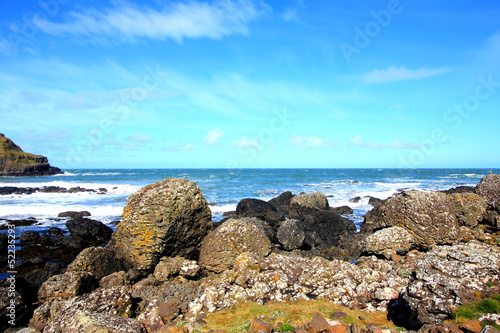 Beautiful rocky coastline of Northern Ireland