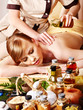 Massage in  beauty spa.