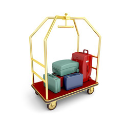 Hotel luggage cart