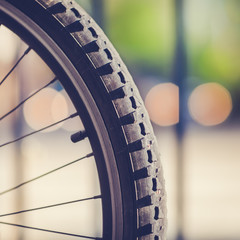 Detail of a Mountain Bike Tire (vintage style)