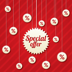 Special offer poster with percent discount