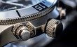 Detail of a luxury watch, selective focus