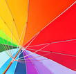 Quadro Colorful close up abstract of rainbow umbrella