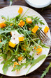 fresh salad with pumpkin and yogurt