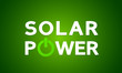 Solar power energy concept