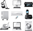 home appliances detailed vector set