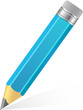 Blue Big Pencil